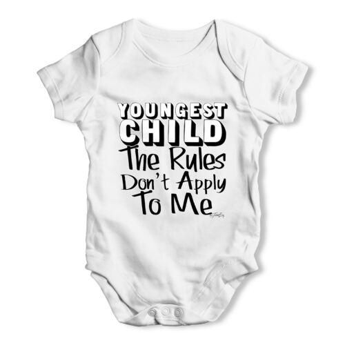Plus jeune enfant règles ne s/'appliquent pas pour moi bébé unisexe drôle bébé grandir body