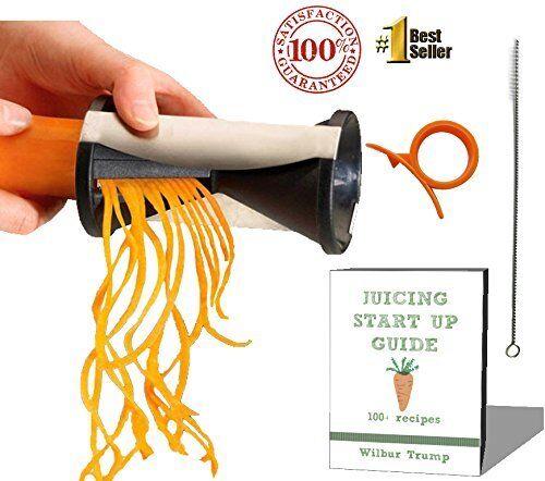 #1 Zoodle Magic Veggie Spiralizer + BONUS PACK - eBook + Cleaning Bush +Citrus