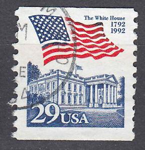 USA-Briefmarke-gestempelt-29c-Fahne-Flagge-White-House-Rundstempel-425