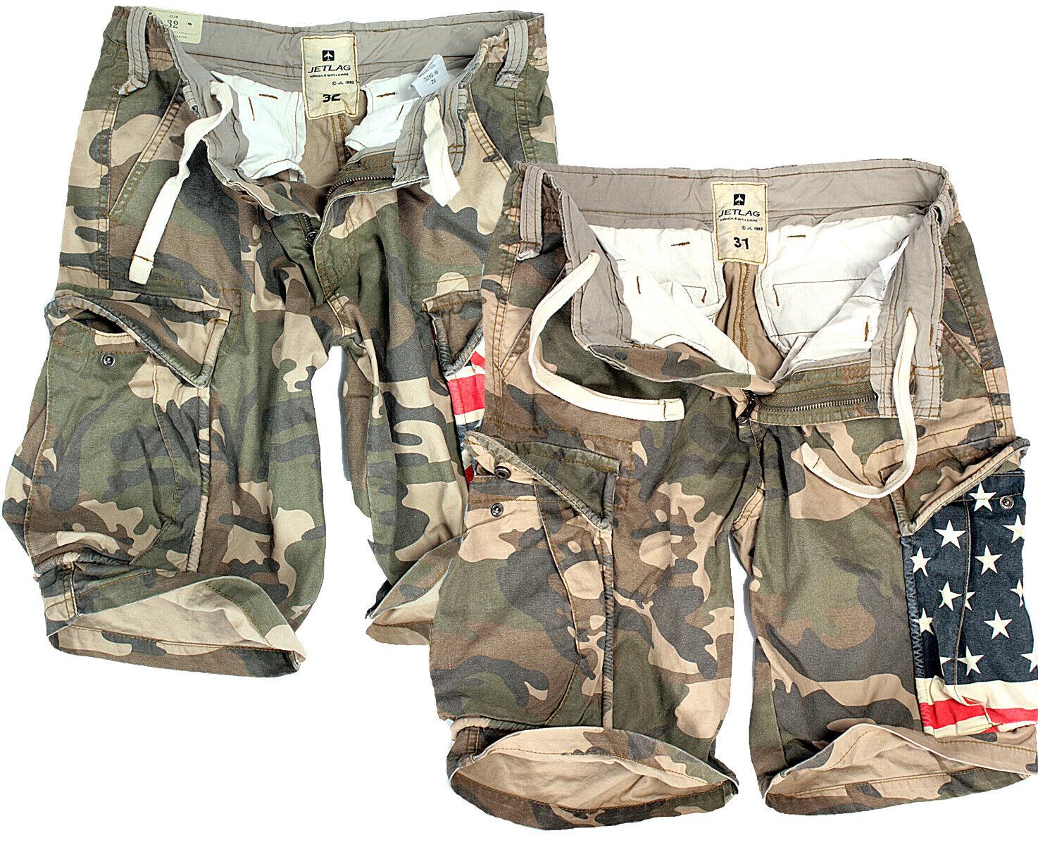 36bbcc0b14 Jet Lag Men's Cargo Bermuda Shorts Short Trousers Army Camouflage USA  Australia 36 Army-usa for sale online | eBay