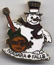 Hard Rock Cafe NIAGARA FALLS CANADA 1999 CHRISTMAS PIN Snowman