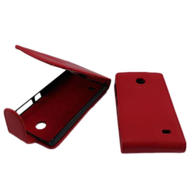 Flip Case für Nokia X Dual SIM Klapptasche Etui Hülle Rot Tasche Tasche