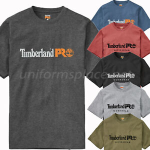 94cfed4a196 Timberland PRO T Shirt Men Screen Printing Short Sleeve Logo T-Shirt ...