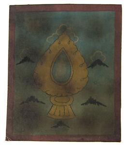 Tsakli -specchio Adarsha Quadro Starter Thangka Tibetano Mongolia Tibet 4984