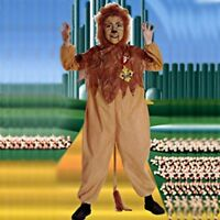 Cowardly Lion Licensed Wizard Of Oz Kids Costume Small Large 4-6 12-14