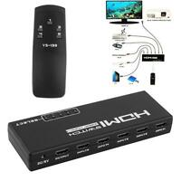 Top 5-Port 1080P HDMI Switch Switcher Selector Splitter +Remote For HDTV PS3 DVD