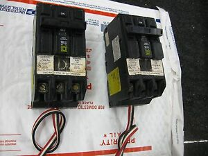 Square D QO320PL- 20 Amp 3 Pole 240 Volt Remote Control Breakers( lot of 2 )