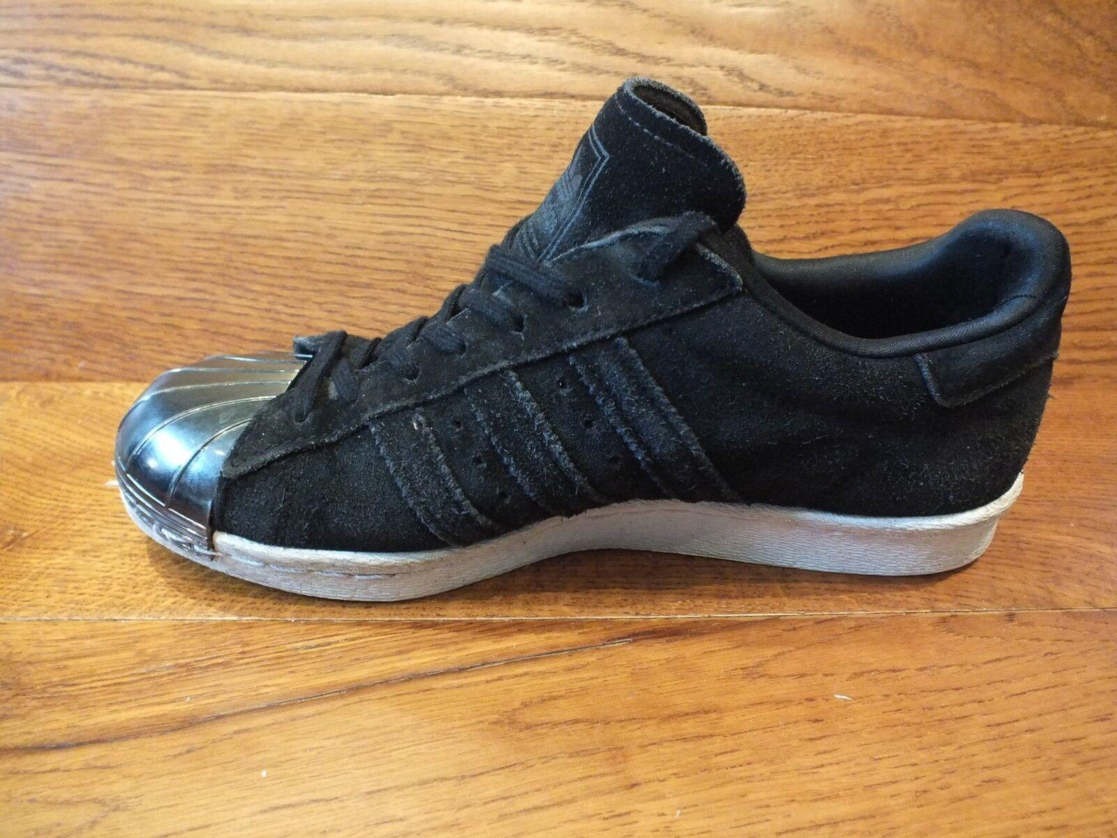 Adidas 80 Superstar 80 Adidas S Metal toe en daim Noir Baskets Décontractées Taille UK 6 EU 39 be52e9