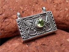 SMALL BALINESE 925 SILVER/PERIDOT PRAYER BOX PENDANT SILVERANDSOUL JEWELLERY