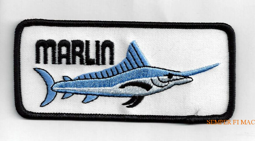 "3/"" Marlin Sport Trophy Fish Embroidery Patch"