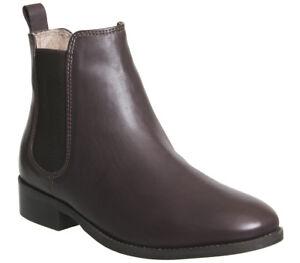 Chelsea bordeaux Womens Office Pelle Boots Bramble xY8XZEn8