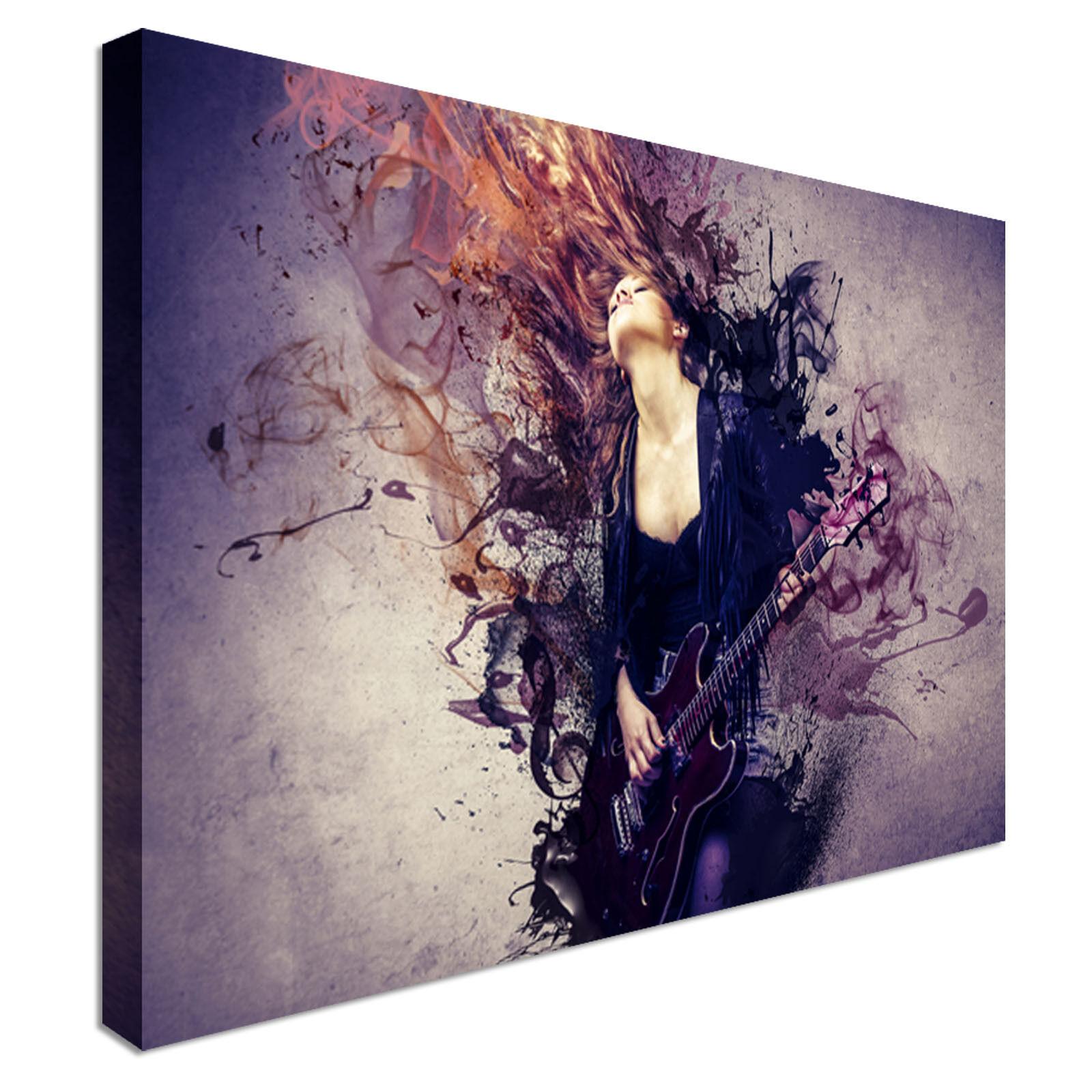 El guitarrista de de arte abstracto mujer LONA parojo arte impresiones de de alta calidad de gran valor f6c97e