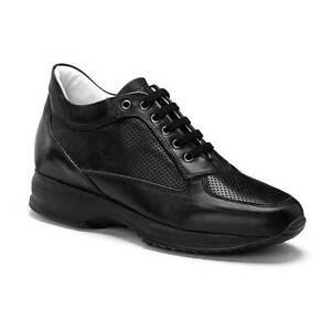 KEYS-5037-NERO-scarpe-donna-pelle-sneaker-casual-stringhe-interactive-camoscio