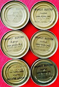 LOT Vietnam era c rations Peanut Butter 6 cans Prepper food