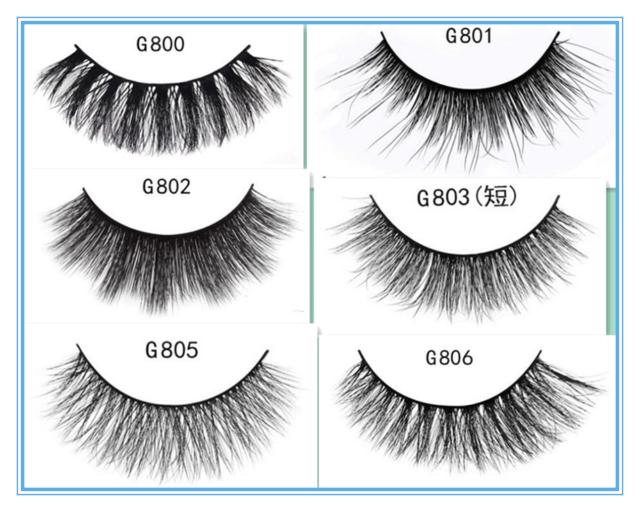 5 Pairs 100% Mink Natural Thick False Eyelashes Eye Lashes Makeup Extension #02