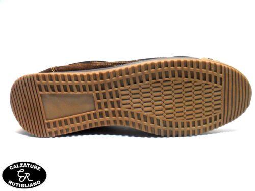 MARINA MILITARE SCARPE UOMO MODELLO SNEAKER MARRONE PELLE//CAMOSCIO MM1570