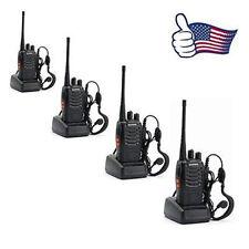4 Pack Walkie Talkie Headset Two Way Radio 2 Long Range Security Patrol PoliceL8