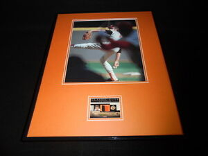 Jim Palmer 16x20 Framed 2 Color Game Used Jersey & Photo Display Orioles