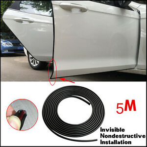 16ft 5m black moulding trim rubber strip car door scratch protector edge guard ebay. Black Bedroom Furniture Sets. Home Design Ideas