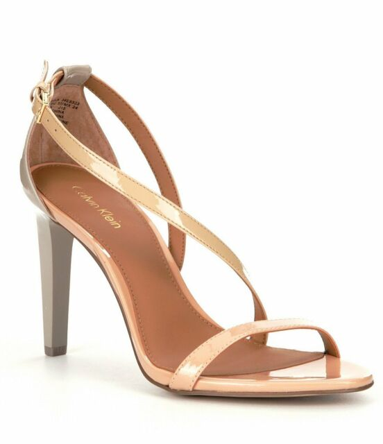 4916df44b7b Calvin Klein Narella Sandals HEELS Nude sandstorm Women s Size 10m ...