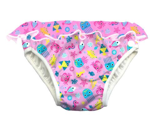 ImseVimse Schwimmwindel Pink Sea Life Rüschen Badehose Baby Kind Mädchen Aqua