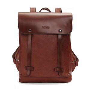 Men/'s Women/'s Leather Backpack Laptop Vintage Satchel Travel School Rucksack Bag