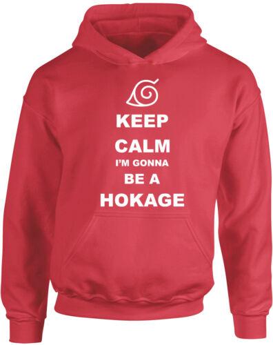 Keep Calm I/'m gonna be Hokage Anime Naruto Inspired Kid/'s Printed Hoody