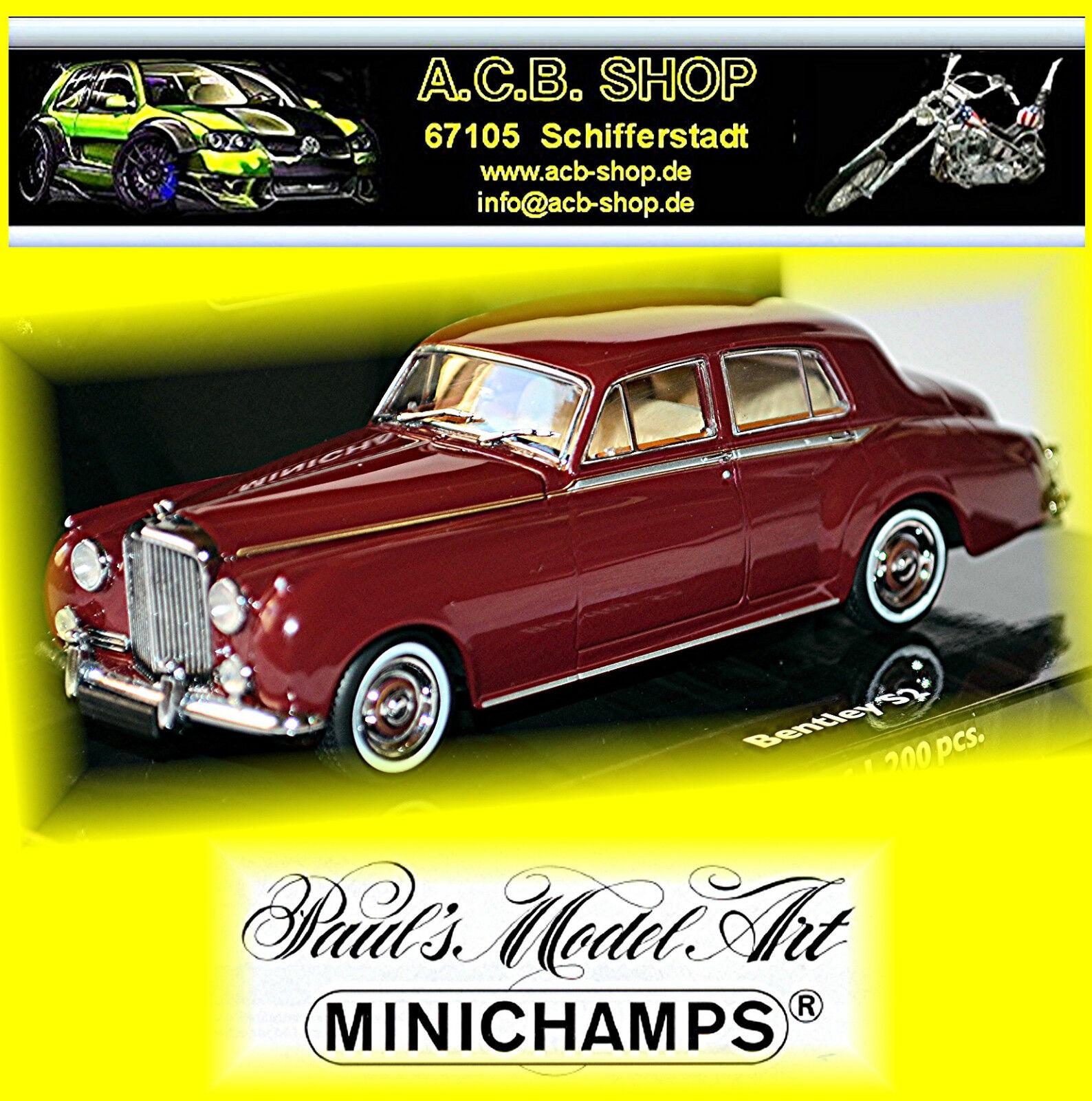 conveniente Bentley s2 Standart Saloon 1960 1959-62 oscuro rojo Dark-rojo Dark-rojo Dark-rojo 1 43 Minichamps  precios bajos todos los dias
