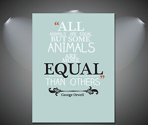 Image is loading George,Orwell,Famous,Quote,Art,Deco,Poster,A1,