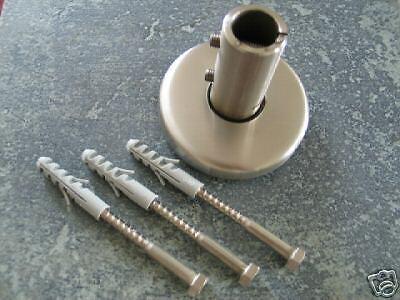 Bodenanker Befestigung für Pfosten oder Handlauf ø 42,4 x 2mm