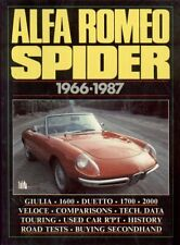 ALFA ROMEO SPIDER S1 Boattail S2 S3 S4 (1966 - 1987) periodo di prove su strada LIBRO
