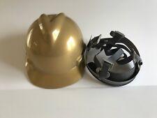 Msa 464852 Gold V Gard Slotted Hard Hat Protective Cap Staz On Suspension