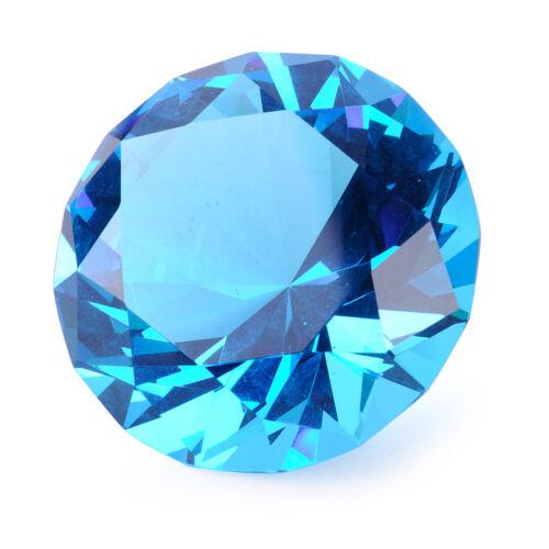 30//40//60mm Blau Glasdiamant Dekoration Hochzeit Deko Steine Diamanten Kristall