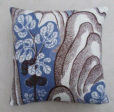 "100/% LINEN 18/"" WHITE/' JOSEF FRANK Fabric Cushion Cover /'UNDER EKVATORN"