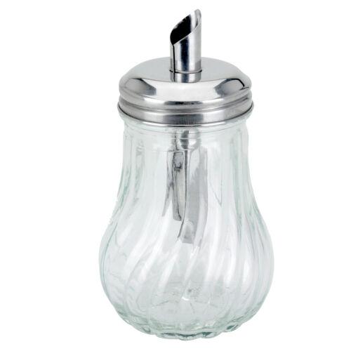 200ml Glass Sugar Dispenser Pourer Decanter Tea Coffee Cafe Restaurant Shaker