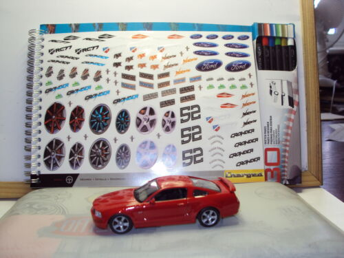 Cuaderno De Bocetos /& Lápices 3 X 1:43 Ford Shelby Mustang Inc Eleanor GT500 Dagostini