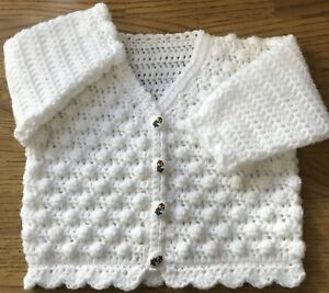 Baby Crochet Pattern For A Bobble Cardigan In Dk Sizes Birth 6