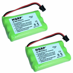 2x-HQRP-Batterie-Telephone-sans-Fil-pour-Uniden-BT-909-BT909-BT-1001-BT1001