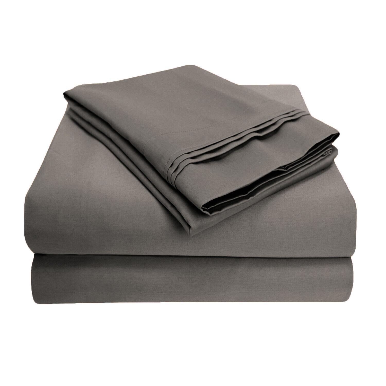 Luxurious 1000-Thread-Count Sheet Set, Premium Long-Staple Cotton, 3 Colorees