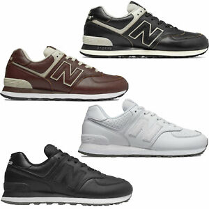 Details about NEW Balance 574 Leather Mens Shoes Leather Smooth Leather  Trainers Sneakers New- show original title