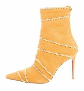 CHRISTIAN LOUBOUTIN BOOTS SHOES YELLOW