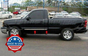 1999-2006-Chevy-Silverado-Regular-Cab-Flat-4Pc-Body-Side-Molding-Trim-1-5-034