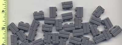 LEGO x 40 Dark Tan Brick Modified 1 x 2 with Masonry Profile NEW