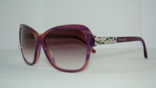 BVLGARI BV 8142 B 5254/8H Purple & Pink Sunglasses Pink Gradient Lens Size 58