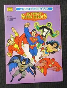 Details about 1996 DC COMICS SUPER HEROES Coloring Book FN+ 6.5 Golden  Books Uncolored