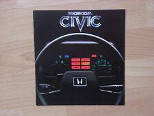 Honda Civic 2- / 4-door Hatchback (SL / SS-Serie) Prospekt / Brochure, GB
