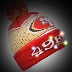 32c24cf163c San Francisco 49ers BIG LOGO Light Up Beanie New 2018 Style NFL ...