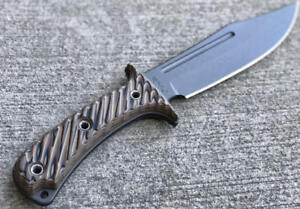 RMJ-Tactical-JUNGLE-COMBAT-Knife-Hyena-Brown-Black-Sheath-Authorized-Dealer