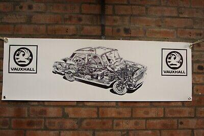 Vauxhall Carlton Grand PVC Work Shop Bannière Garage Show Bannière