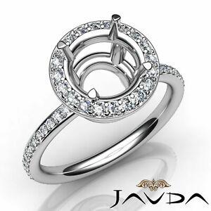 Round-Cut-Diamond-Wedding-Engagement-Semi-Mount-Ring-Halo-Setting-0-53Ct